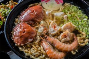 雙蟹海鮮意麵(135元)