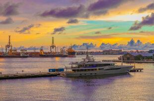 光榮碼頭夕陽